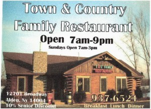 Town & Country Restaurant sponsoring the ATA shoot at Allied Sportsmen Club. 12701 Broadway Alden, NY 14004